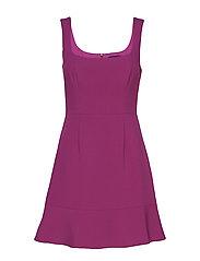 DOROTEA FLARE STRAPPY DRESS - HOLLYHOCK