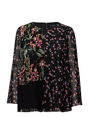 BLUHM BOTERO SHEER LS FLARED - BLACK MULTI
