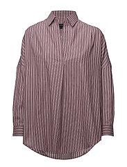 French Connection - Bega Stripe Dip Hem Shirt