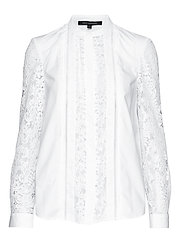 PF SOUTHSIDE COT LACE MIX SHRT - WINTER WHITE