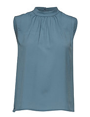 CREPE LIGHT SOLID JERSEY SLEEVELESS TOP - SUMMER SURF