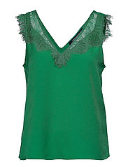 CHIOMA LIGHT LACE TOP - BRIGHT GREEN
