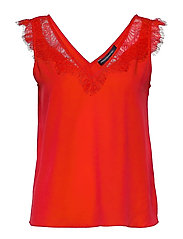 CHIOMA LIGHT LACE TOP - POPPY RED