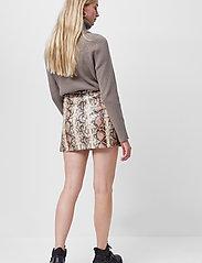French Connection - BONNIE PU SKIRT - korta kjolar - neutral - 3