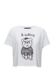 LE BULLDOG TEE (THE BULLDOG) - WHITE