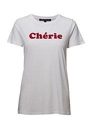 CHERIE (HONEY) SSLV TEE - WHITE
