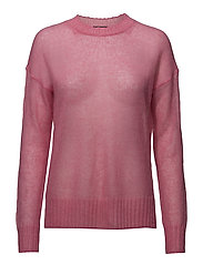 MIRI KNITS DROP SHLDR JUMPER - ELECTRIC PINK