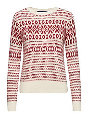 ESME FAIR ISLE LS JUMPER - CLASS CR/DEEP FRAMB