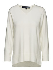 EBBA VHARI V NECK JUMPER - WINTER WHITE