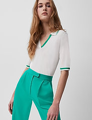 French Connection - LIVIA KNIT POLO TOP - polohemden - sum white/palm green - 5
