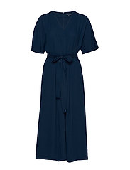 AZANA CREPE BELTED JUMPSUIT - NOCTURNAL