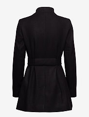 French Connection - FT PLATFORM FELT CROSSOVER COAT - wool jackets - black - 2