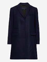 Femme French Connection Plate-Forme Feutre Smart Coat in Utility Bleu
