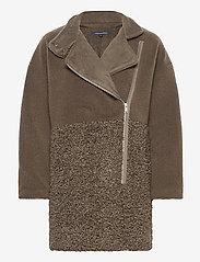 French Connection - IRENEA FAUX FUR COAT - faux fur - loden green - 0