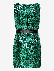 French Connection - CASSIA EMBELLISHED BELT DRESS - paljettkjoler - pepper green - 1