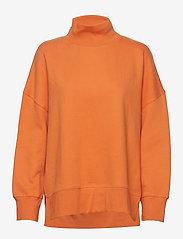 French Connection - SUNDAY SWEAT HNCK SIDE SPLIT - sweatshirts - jaffa orange - 0