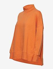 French Connection - SUNDAY SWEAT HNCK SIDE SPLIT - sweatshirts - jaffa orange - 2