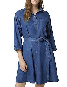 SHANI CHAMBRAY SHIRT DRESS - skjortekjoler - mid blue