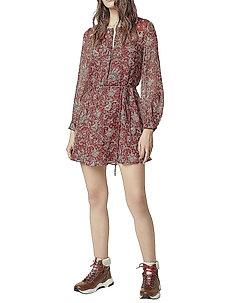 ESI CRINKLE PRINTED DRESS - korte kjoler - red ochre multi