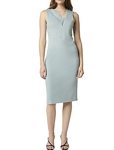 TAWIAH BEAU ASYMTRC BDYCN DRSS - midi kjoler - silver blue