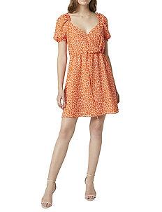 ETTA KISS PRINT PRINTED DRESS - midi kjoler - satn slpr/neon or ml