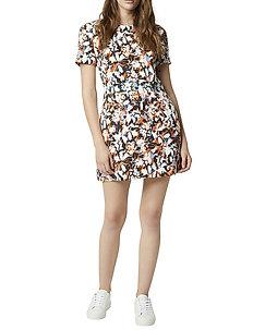 ENID STRTCH PRNT FIT N FLR DRS - korte kjoler - jaffa orange multi