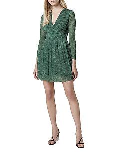 TABIA PLTD PRNTD JRSY V NK DRS - midi kjoler - bright green multi
