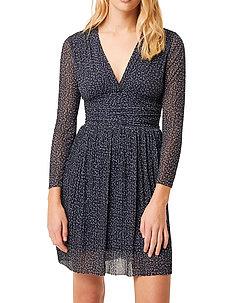 TABIA PLTD PRNTD JRSY V NK DRS - midi kjoler - nocturnal multi