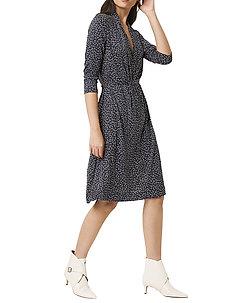 CHINWE JERSEY V NECK DRESS - midi kjoler - nocturnal multi
