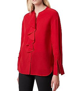 ELNA LIGHT RUFFLE SHIRT - langermede bluser - poppy red