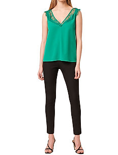 CHIOMA LIGHT LACE TOP - ermeløse topper - bright green