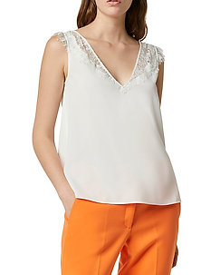 CHIOMA LIGHT LACE TOP - ermeløse topper - summer white