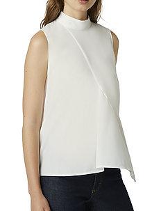 ABENA LIGHT MOCK NK SLVS TOP - ermeløse bluser - summer white