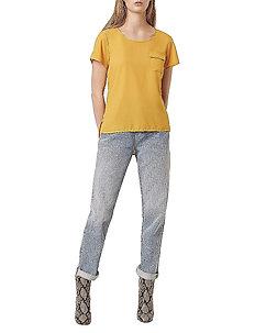 ABENA LIGHT ROUND NECK TOP - basic t-shirts - mustard seeds