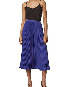 PF CREPE LHT PLEATED MIDI SKRT - midi - clement blue