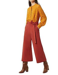 BOH WHISPER CROPD FLARE TRS - vide bukser - red ochre