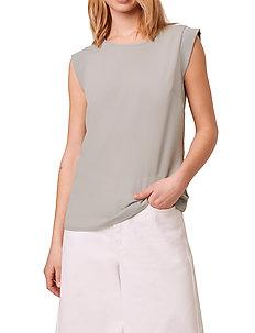 ABENA LIGHT CAP SLEEVE TOP - basic t-shirts - silver blue