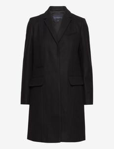 FT PLATFORM FELT SMART COAT - uldfrakker - black