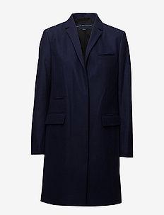 PLATFORM FELT SMART COAT - ullkåper - utility blue