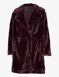 PF BANNA FAUX FUR LONG COAT - fuskpäls - decadence