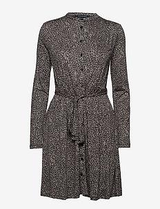 BRUNELLA MEADOW JERSEY BELTED SHIRT DRESS - paitamekot - sabbia multi