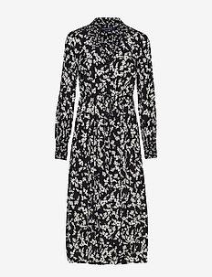 BRUNA LIGHT MIDI SHIRT DRESS - skjortekjoler - black/classic cream
