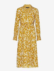 BRUNA LIGHT MIDI SHIRT DRESS - skjortekjoler - citronelle/cl cream