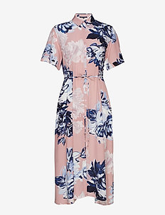 CORSETTA DRAPE SHIRT DRESS - skjortekjoler - cinder pink multi