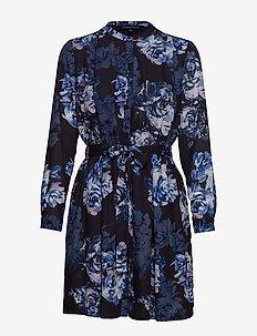 CATERINA CREPE SHIRT DRESS - skjortekjoler - utility blue multi