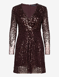 EMILLE SPARKLE SHORT DRESS - paljettklänningar - decadence