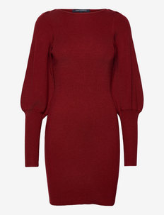 JOSS KNIT DRESS - knitted dresses - bloodstone