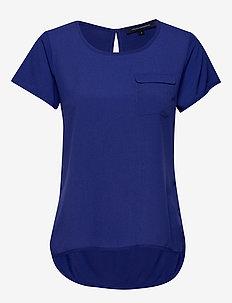 ABENA LIGHT ROUND NECK TOP - CLEMENT BLUE