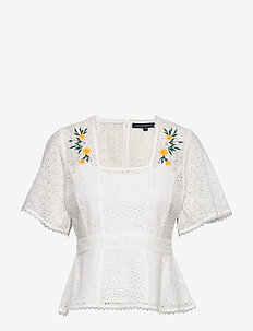 PF EKA EMBROIDERED GGT TOP - SUMMER WHITE