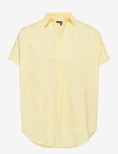 CELE SLEEVELESS RHODES SHIRT - lühikeste varrukatega särgid - chalky yellow